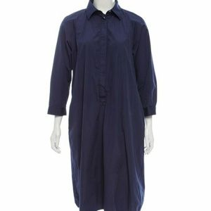 MaxMara Navy Trench Coat Dress